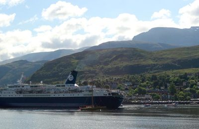 cruise liner on Loch Linnhe
