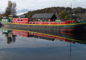 During thewinter until the middle of March our comfortable holiday barges are parked near Fort William by the longest canal locking system in the ...
