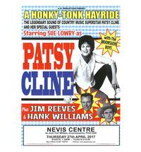 The legendary sound of country music superstar Patsy Cline and her special guests The Moonshine Boys. Starring Sue Lo...
