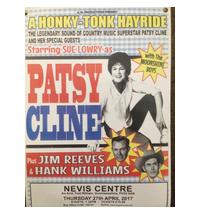 Listen to Sue Lowry as Patsy Cline with the Moonshine Boys and sound-alikes of Jim Reeves and Hank Williams.<br>If go...