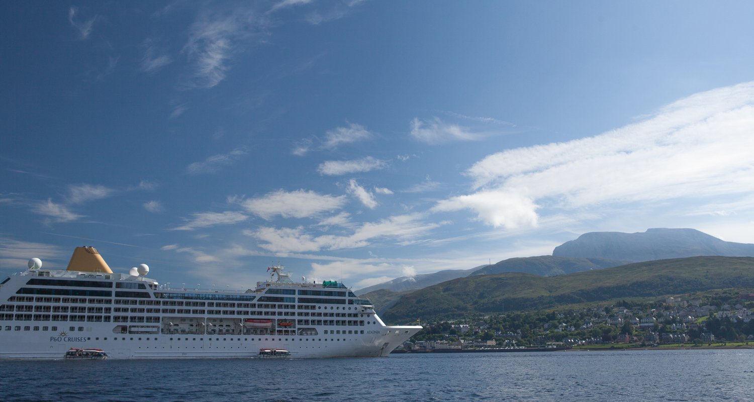 A cruise ship visiting Fort William
