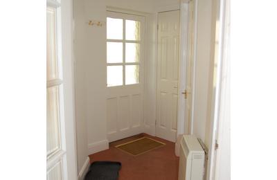 Medium schoolhouse cottage back door