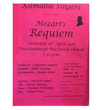 Fort William's local choir present Mozart's Requiem and excerpts from West Side Story, Jazz Kyrie and The Rain Song.