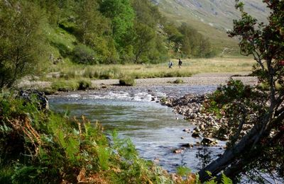 Walkers near Steall Falls