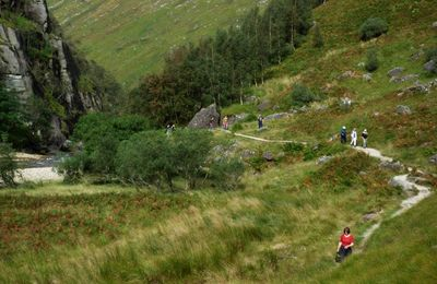Walkers enjoying Glen Nevis