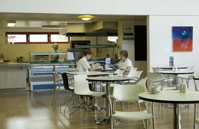 Training kitchen and cafe