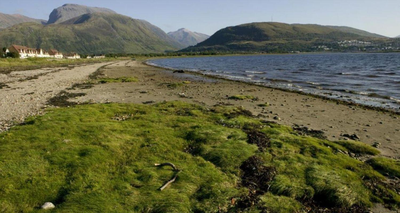 Caol Beach and Ben Nevis