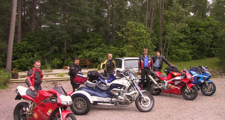Biker friends in Fort William