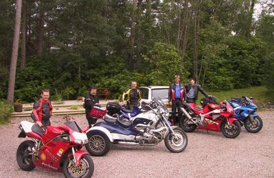 Biker friends in Fort William