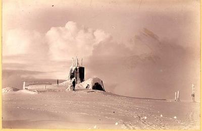 Ben Nevis Observatory in winter