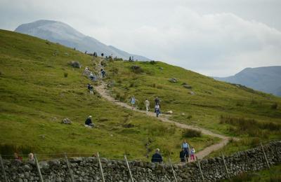 A Busy Ben Nevis path