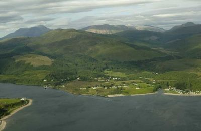 Corran Narrows from the air