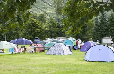 Camping scene in Fort William