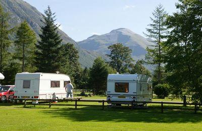 Caravans in Glen Nevis