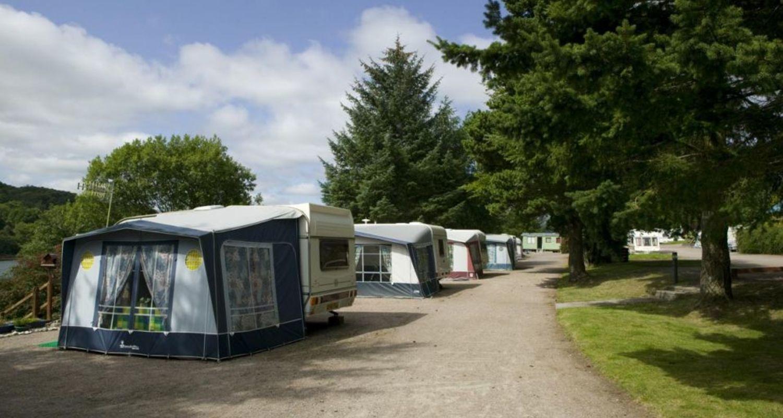 Terraced caravan pitches Fort William