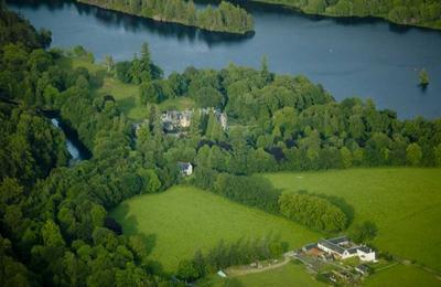 Glengarry Castle from the air