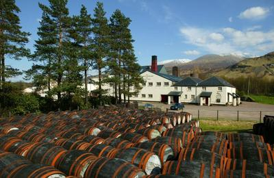 Whisky barrels waiting to be filled