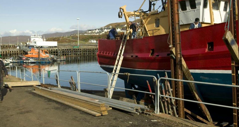 Marine repairs at Mallaig