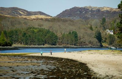 Beach combing at Tioram Castle