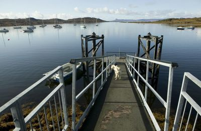 Berthing and landing pontoon at Arisaig