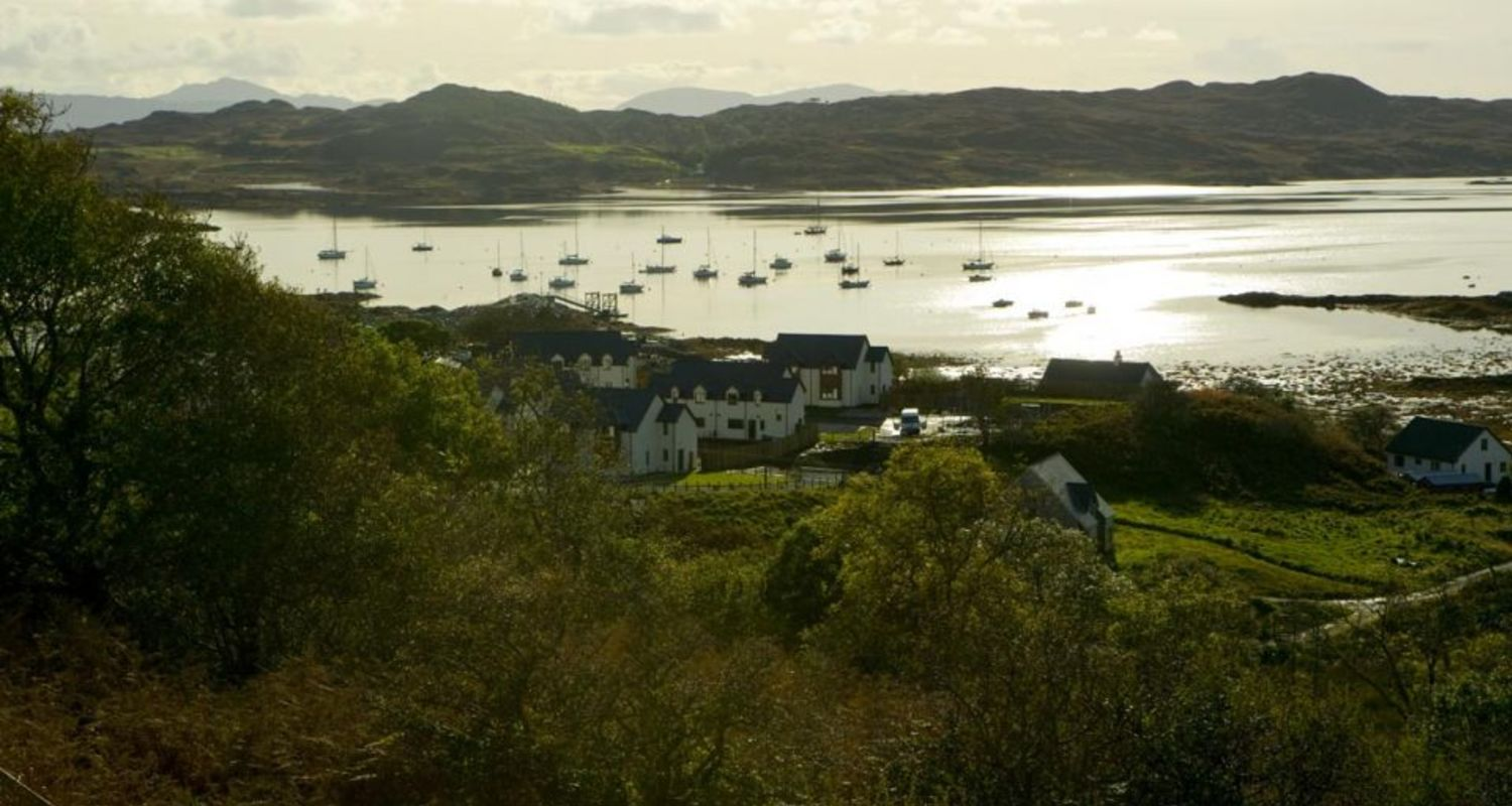 Arisaig Village from the A830