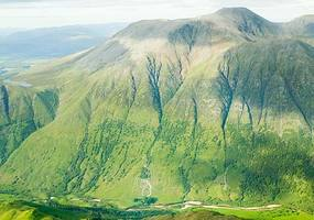 An aerial view of Ben Nevis