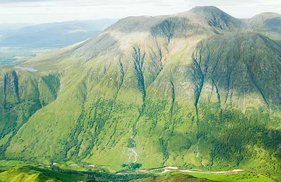 An aerial view of Ben Nevis