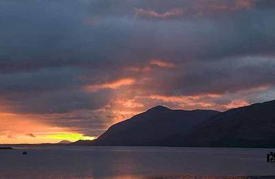 Winter sunset of Loch Linnhe