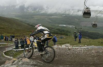 UCI Downhill mountain track