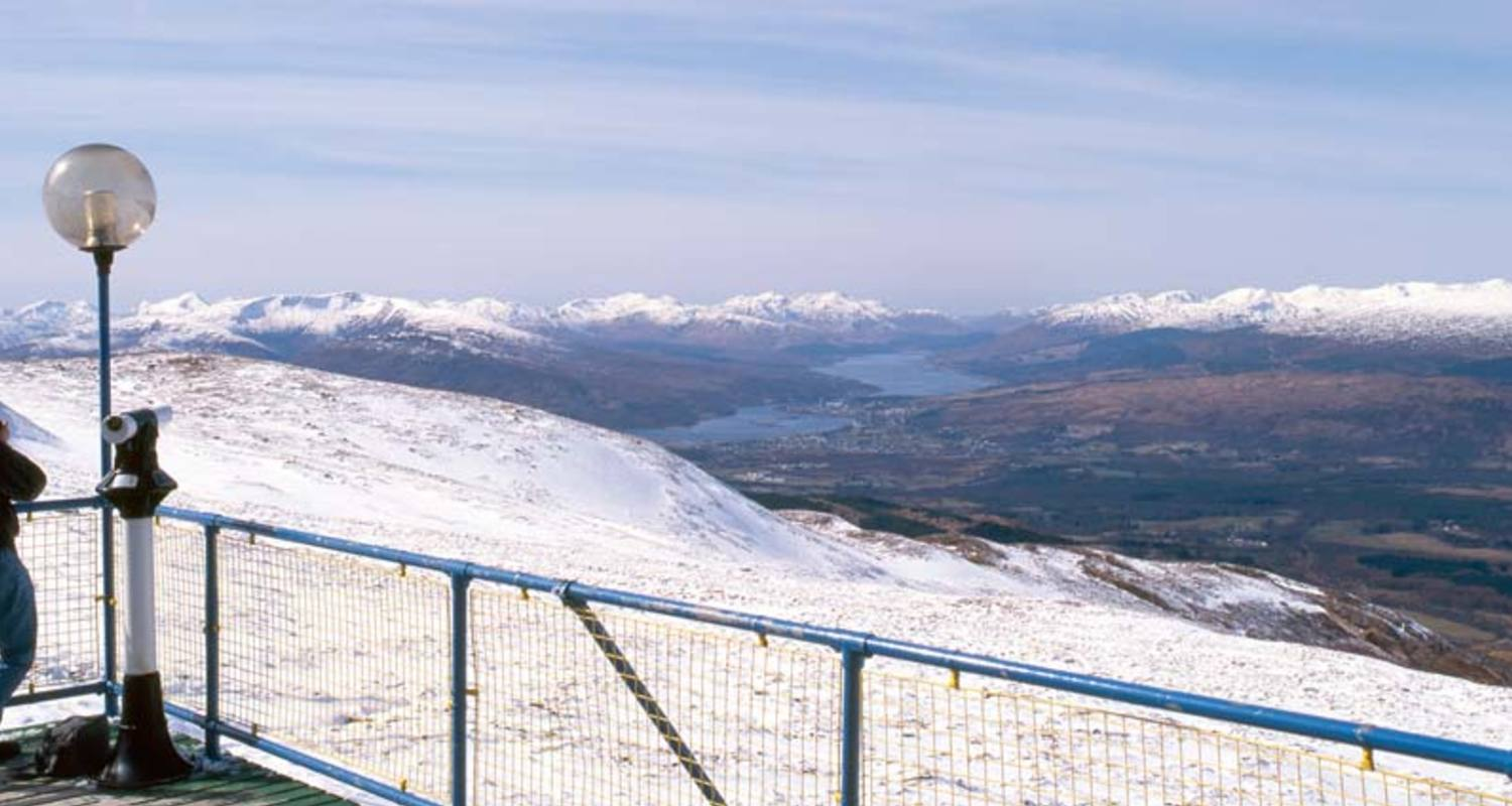 A winter panoramic view