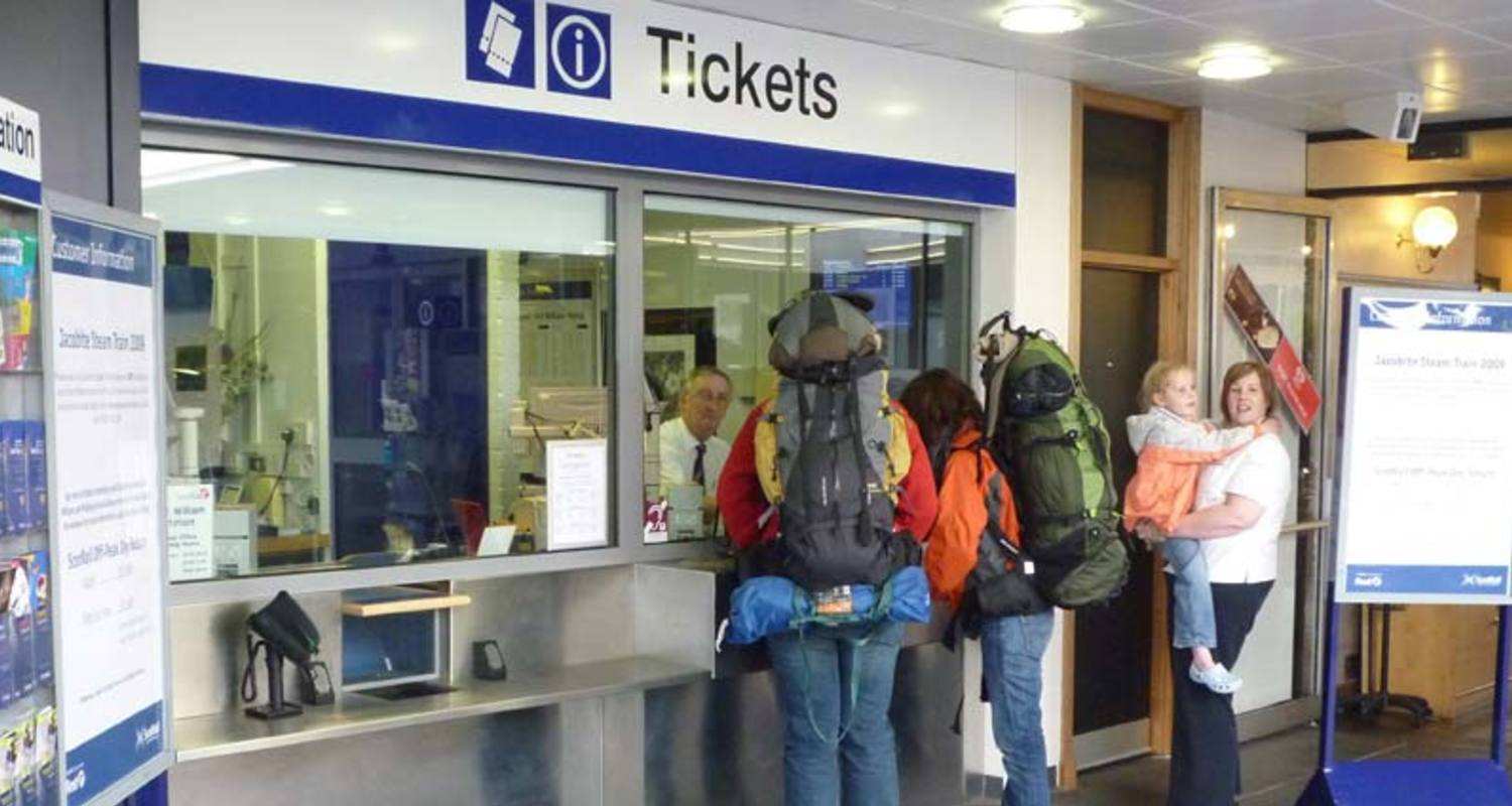 Train ticket office at Fort William