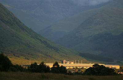 Fort William smelter at the foot of Ben Nevis