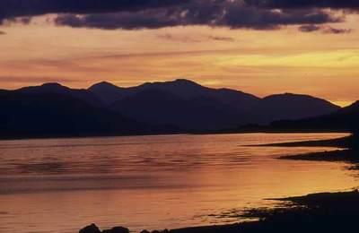 Sunset over Loch Eil