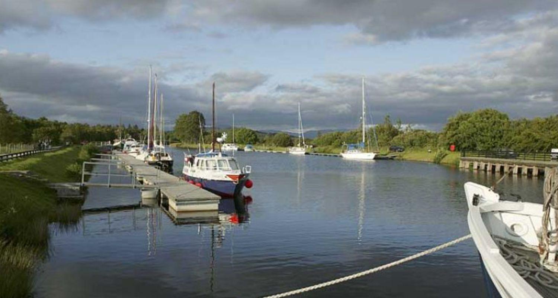 Canal pontoons at Banavie
