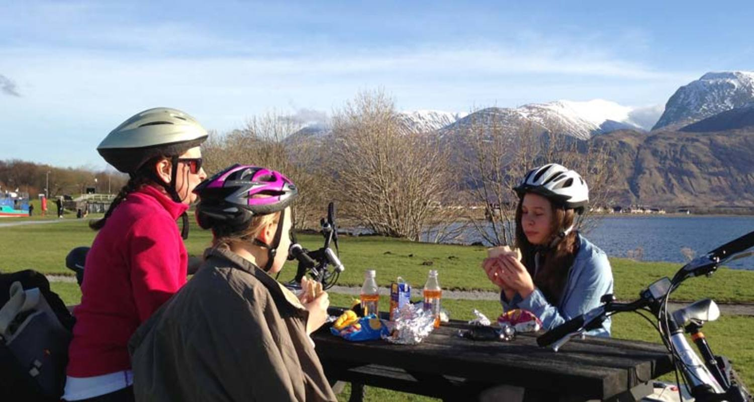 A picnic by the Caledonian Canal