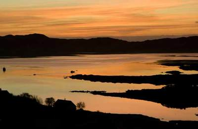 Sunset over Arisaig