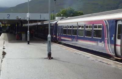 The platform and hills