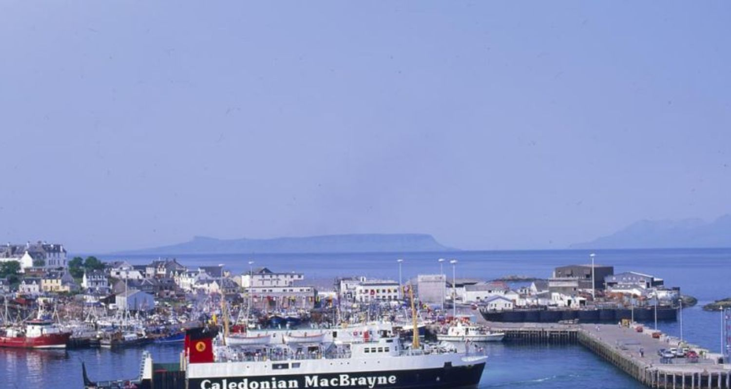 Mallaig harbour and village