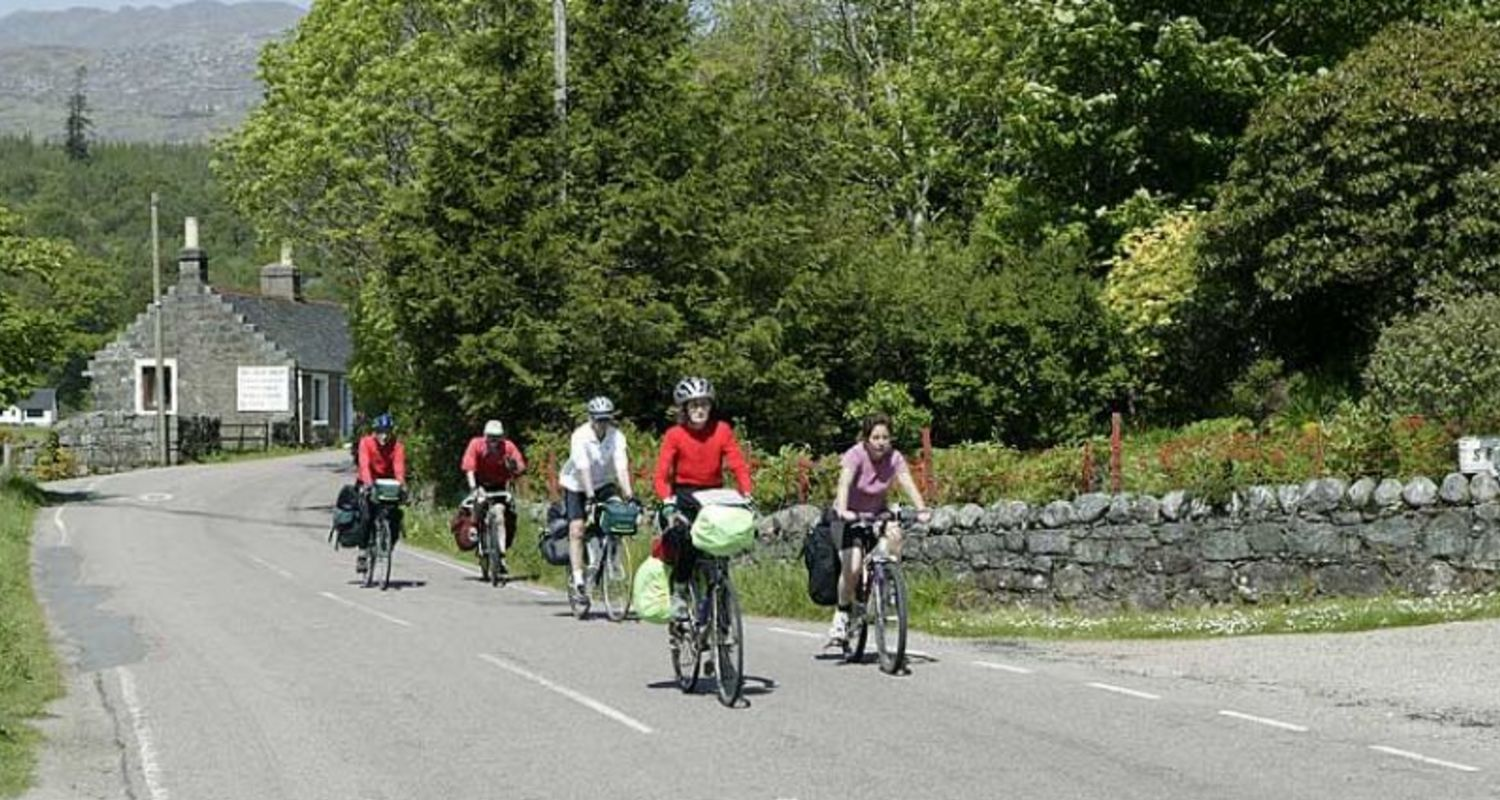Cyclists in Ardnamurchan