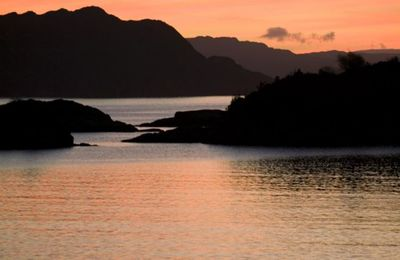 Sunset over Isle of Rum
