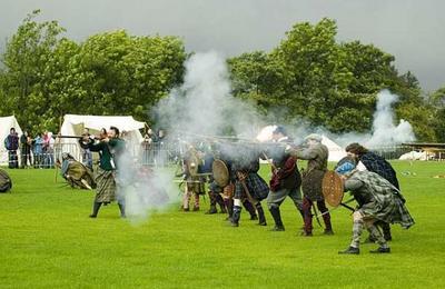 Highlanders in battle