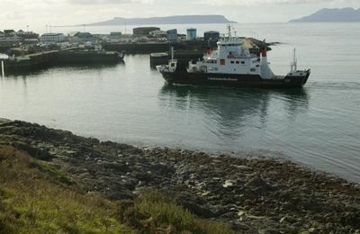 A ferry arrives at Mallaig