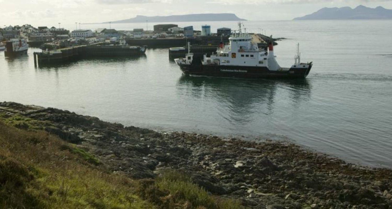 A ferry arrives at Mallaig