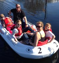 Family fun! Give the responsibility and enjoyment of driving and skippering of a boat to the youngest members of your family. They will love it!